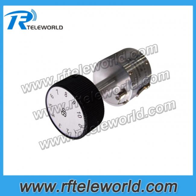 50ohm SMA Adjustable attenuator 18GHz stepped attenuators