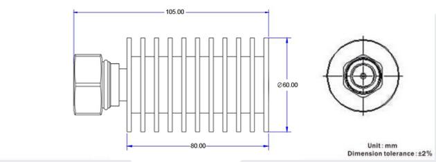 100w rf load termination