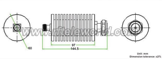 100w 7  16 attenuator