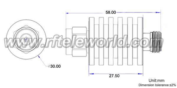 10w rf attenuator