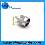 N Male Connector For RG142 Crimp style