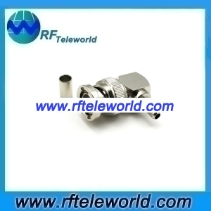 BNC right angle connector for RG58 LMR200