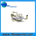 N Female Connector For LMR100 Cable Crimp Style