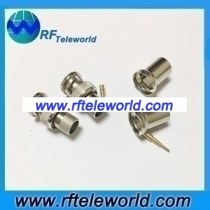 BNC Male Connector For LMR400 Cable Crimp style