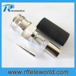 4.3-10 Female Crimp Connector for LMR195 RG58 RG142 LMR240 LMR400 RG402 RG401 1/4SCF cable
