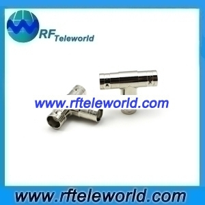 T-type splitter connector BNC 3 Way Female to two Female T- Adapter connector
