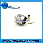 N Male Connector For RG58 Cable Crimp Style