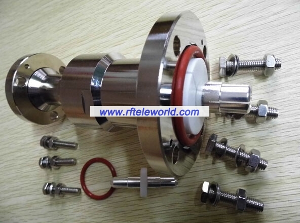Eia flange to connector swivel
