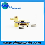 SMA male right angle crimp connector for RG316