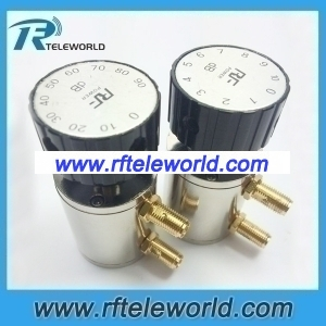 2W SMA knob Manually variable 10db step attenuators 60dB 6Ghz