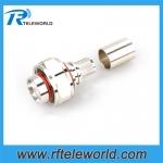 4.3-10 male Crimp Connector for LMR195 RG58 RG142 LMR240 LMR400 RG402 RG401 1/4SCF cable