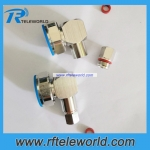 DIN 7/16 male plug right angel connector for 3/8 super flexible cable