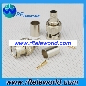 BNC Male Connector For RG59 Cable Crimp style