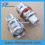 4.3-10 Mini DIN female to N female bulkhead adapter connector