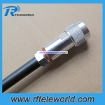 N male plug straight connector for 3/8 super flexible cable