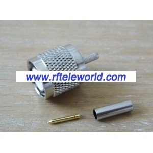 TNC male connector for RG316 cable crimp style