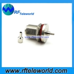 N female bulkhead connector for RG178 cable Crimp Style