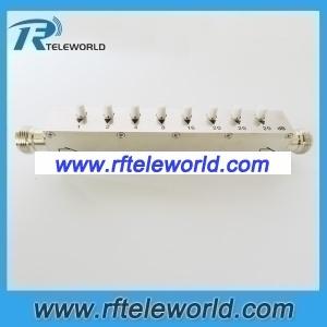 50ohm 10W step variable attenuator 1db step attenuator 1-90db