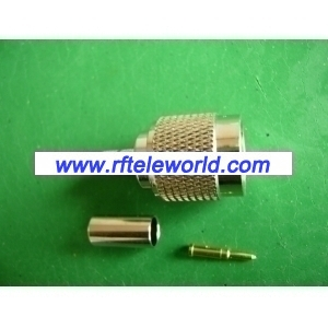 TNC Male Connector For RG58 Cable Crimp style