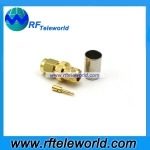 SMA Male Connector For LMR300 Cable  Crimp  style